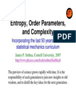 Sethna - Entropy, Order Parameters and Complexity (9 Diapos)