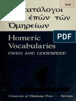 Owen and Goodspeed - Homeric Vocabularies