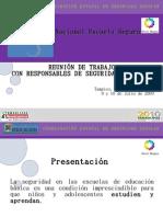 presentación terminada de Escuela Segura