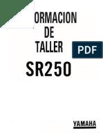 YamahaSR250 InformacionDeTallerSR250 (Spanish)