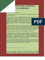 Arte Barroco Colombiano Portafolio 2