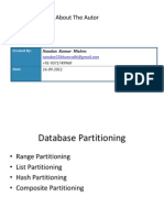 ORACLE DB Partitioning