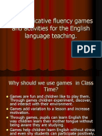 Communicative fluency games