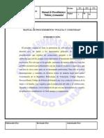 """MANUAL DE PROCEDIMIENTO """"POLICIA Y COMUNIDAD"""" Comisionado Agregado Miguel Rojas"""