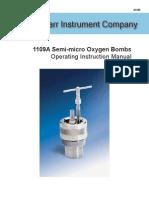 492M Parr 1109A Semi Micro Oxygen Bomb Inst