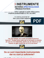[Sliduri Webinar 5AM] Top 10 Instrumente Productivitate
