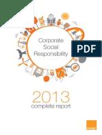Orange 2013 CSR Report