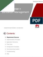 OWD090922(Slide) UGW9811 V900R009C01 Bandwidth Management-20120319-B-V1 1