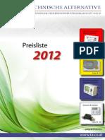 TA Preisliste 2012 de Web