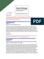 Human Pathology January 2014