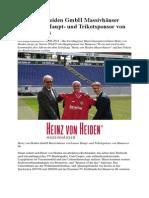 Heinz Von Heiden GmbH Massivhäuser Wird Neuer Haupt- Und Trikotsponsor Von Hannover 96
