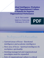 4. Tim Lowder Aligning Spiritual Intelligence Workplace Spirituality and Culture 2011 IACBE