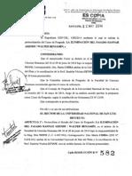 RR  Nº 582-2014 Protocoliza - La Ilumniación del Pas ado Arendt-Benjamin
