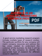Elements in an Effective Marketing Research Program