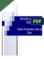 Objetos Persistentes y Base de Datos