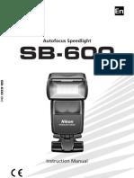 Nikon SB 600 Users Manual