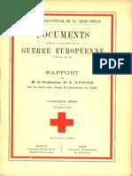 Rapport de M. le prof. Dr Adolphe d'Espine, vice-président du Comité international, sur sa visite aux camps de prisonniers en Italie