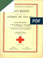 Rapports de MM. Ed. Naville et V. van Berchem, Dr C. de Marval, A. Eugster sur leurs visites aux camps de prisonniers en Angleterre, France et Allemagne