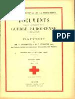 Rapport de MM. F. Thormeyer et Dr F. Ferrière sur leur visite aux camps de prisonniers en Russie