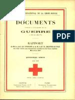 Rapport de M. le prof. Ad. D'Espine et de M. le Dr Ch. Martin-du Pan sur leur visite aux formations sanitaires du front italien