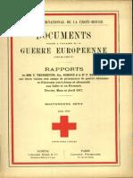 Rapports de MM. F. Thormeyer, Em. Schoch et le Dr F. Blanchod sur leurs visites aux camps de prisonniers de guerre ottomans et d'internés autrichiens et allemands aux Indes et en Birmanie