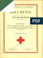 Rapport de MM. Dr F. Ferrière, H. Micheli et K. de Watgtevville sur leur voyage à Vienne et à Sofia et leurs visites à quelques camps de prisonniers en Bulgarie