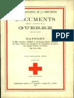 Rapport de MM. Théodore Aubert et lieutenant-colonel Bordier sur leurs visites aux compagnies de prisonniers de guerre des régions libérées en France