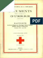 Rapport des Drs Frédéric Guyot, René Guillermin et Albert Meyer sur la visite de quelques hôpitaux et infirmeries de prisonniers de guerre de l'Entente en Allemagne pendant la période de l'armistice