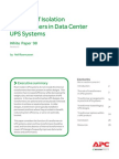 Apc Role of Isolation Transformaers in Data Center Ups Systems