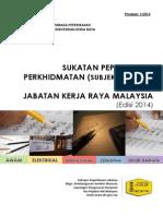 Sukatan Peperiksaan Perkhidmatan JKR Edisi 2014_pindaan 1_2014