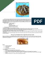 Resep Kue Jepit,Semprong Dan Kue Putri Ayu