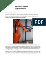 The Evolution of Precision Robotics