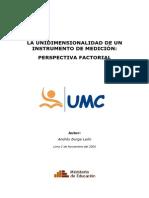 La unidimensionalidad de un instrumento de medición, perspectiva factorial
