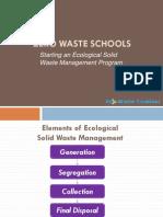 Planning a School ESWMP