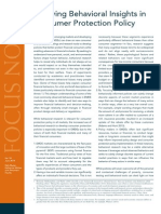 Applying Behavioral Insights in Consumer Protection Policy Jun 2014