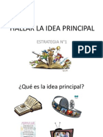 e.1 Hallar La Idea Principal