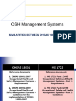Similarities between OHSAS 18001 & MS 1722