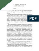 Prólogos a Las Primeras Ediciones de GMF y VMF