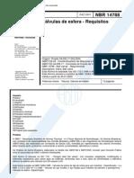 NBR 14788 - Valvulas De Esfera - Requisitos.pdf