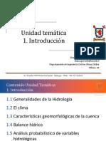 1.1 Generalidades de La Hidrolog A