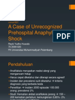 A Case of Unrecognized Prehospital Anaphylactic Shock