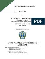 Btech Textile Chemistry Semester i to Viii Cbcegs