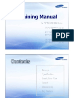 Samsung Training Manual for D490 D450 Training PN43D450 PN51D450 PN43D490 PN51D490 PL43D450 PL51D450 PL43D490 PL51D490 PS43D450 PS51D450 PS43D490 PS51D490