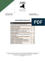 NYPIRG 2014 Session Analysis