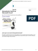 ¿Sabes Cómo Realizar la Interpolación Lineal con Microsoft® Excel_ _ Tutoriales al Día - Ingeniería Civil