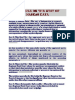 The Rule on the Writ of Habeas Data