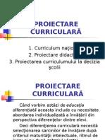 PROIECTARE CURRICULARA