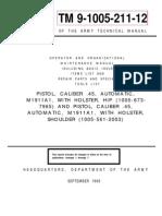 TM-9-1005-211-12 (M1911A1 .45 Pistol)