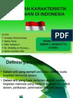 Jenis Dan Karakteristik Pertanian Di Indonesia