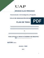 Esquema de Plan de Tesis Rivera